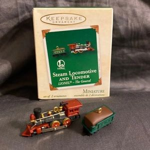 Hallmark Ornament Steam Locomotive & Tender